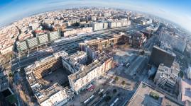 Lyon Part-Dieu : chantiers de l'avenue Pompidou et du boulevard Vivier Merle
