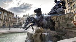 Lyon : La fontaine Bartholdi remise en eau