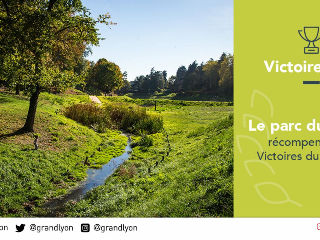 Une victoire d'or pour le parc du vallon de La Duchère !