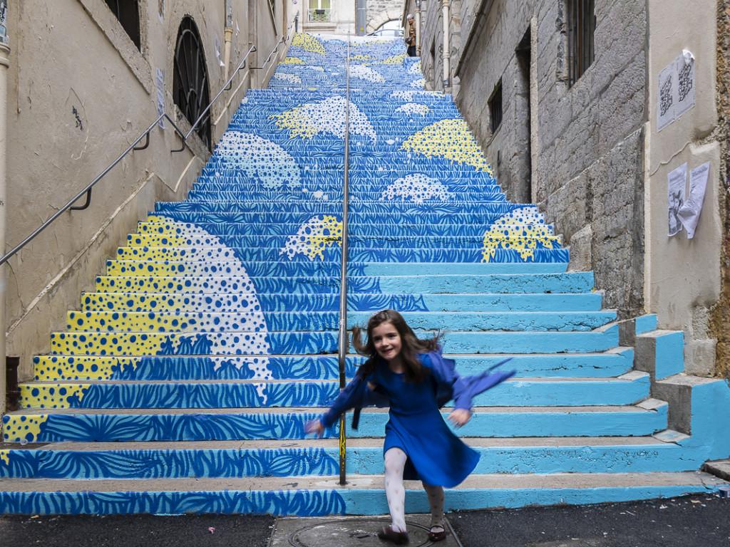 L'escalier Mermet en mode street-art