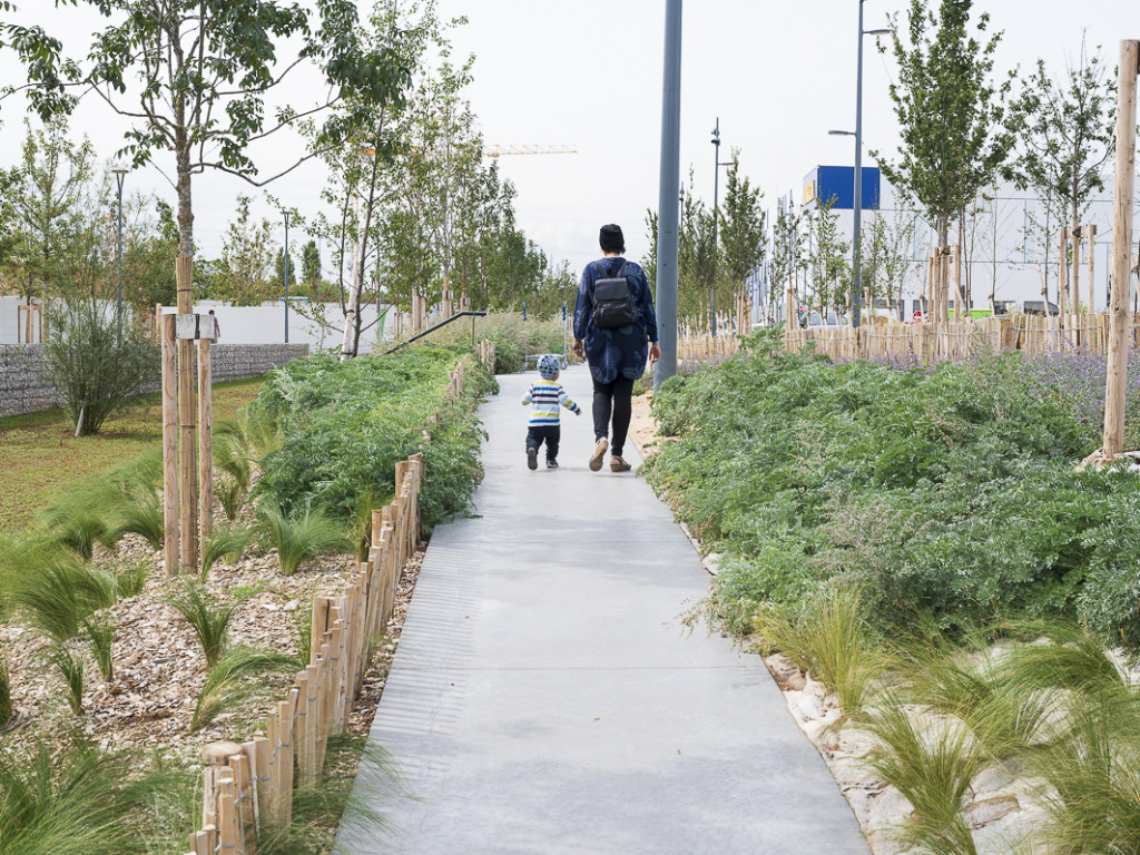 Une voie verte pour aller à Grand Parilly