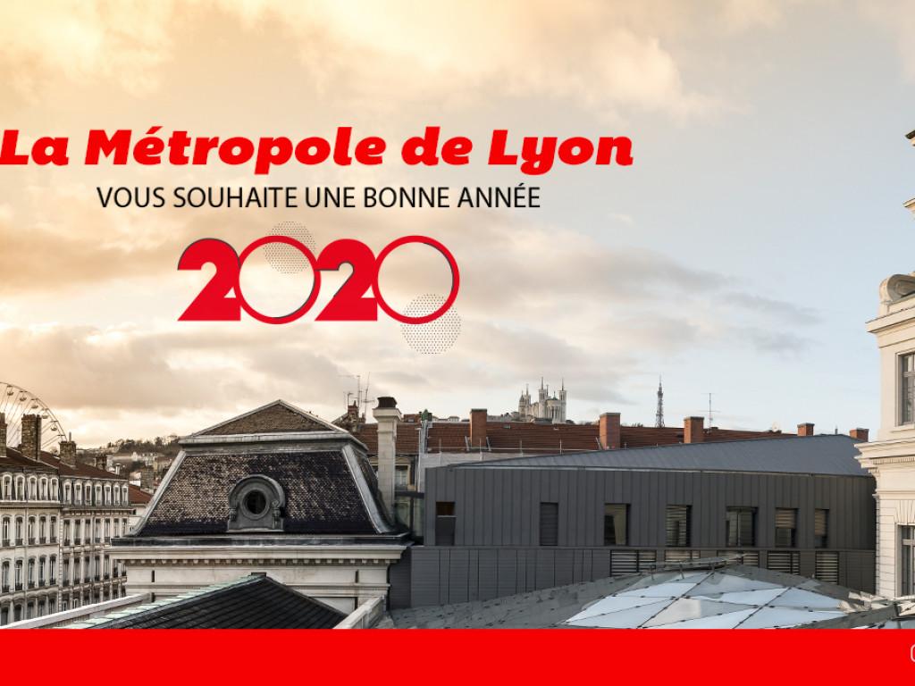 La Métropole de Lyon vous souhaite une bonne année 2020