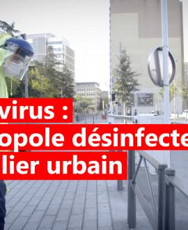 Coronavirus : la désinfection du mobilier urbain a commencé