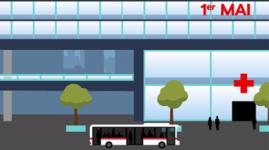 1er mai : 6 lignes de bus vers les pôles de santé