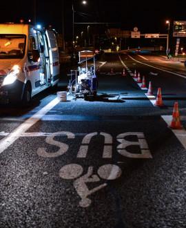 Pont Poincaré : une voie dédiée aux cyclistes et aux bus
