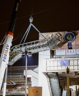 Gare de Perrache : démontage des escalators