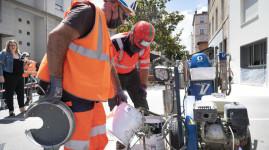 La Métropole teste une peinture anti-chaleur pour rafraîchir la ville