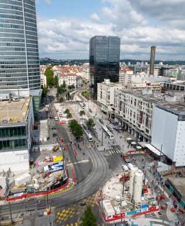 Part Dieu : les travaux progressent sur le boulevard Vivier-Merle