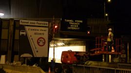 Tunnel sous Fourvière : les fermetures ponctuelles d'août