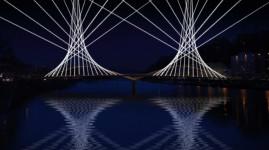 Inauguration du pont Schuman : un spectacle son et lumière