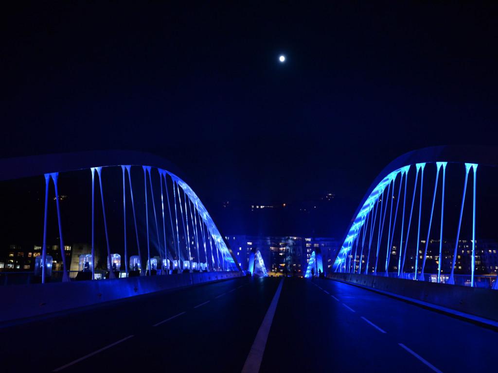 Inauguration du pont Schuman