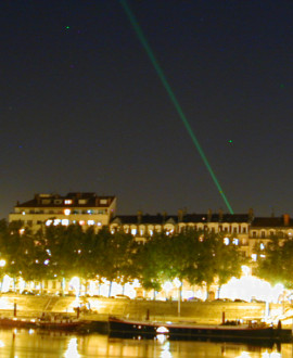 Vaulx-en-Velin/Fourvière : des tirs laser pour calculer la vitesse de la lumière