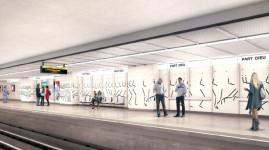 Métro : nouveau look pour la station Part-Dieu