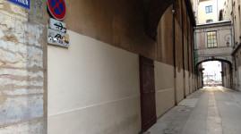 Une rampe pour les personnes à mobilité réduite créée passage Ménestrier à Lyon