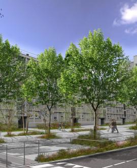 Villeurbanne : l'avenue Saint-Exupéry poursuit sa mue