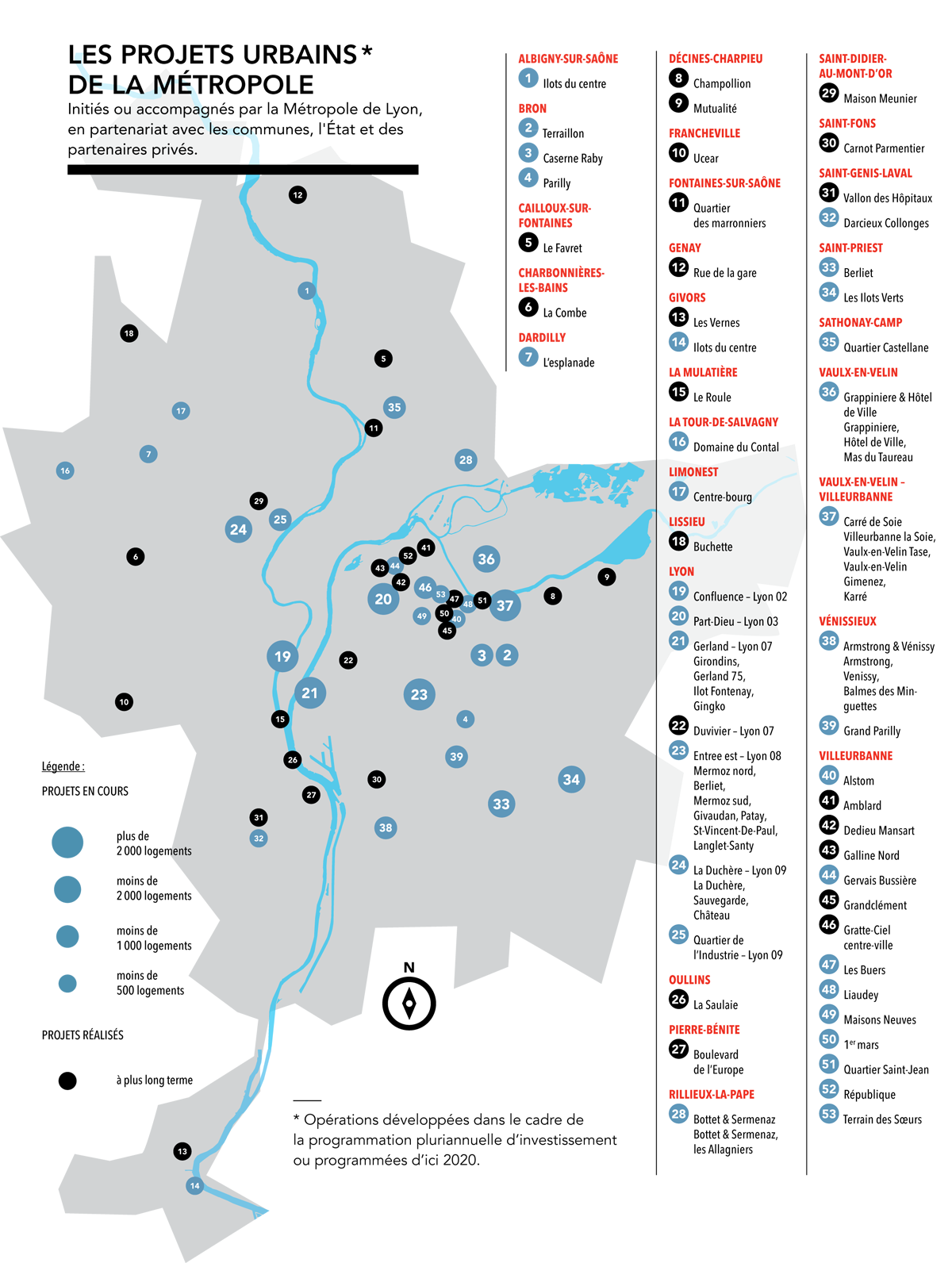 Les projets urbains de la Métropole