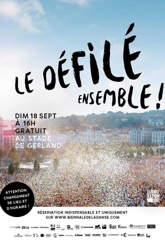 Le Défilé de la Biennale de la Danse, prévu le dimanche 18 septembre, est déplacé dans l'enceinte du stade de Gerland.
