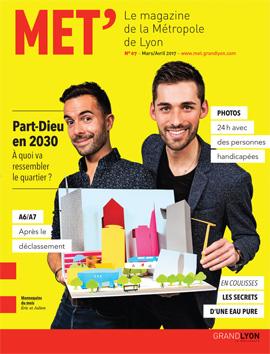 Couverture du MET 07, le magazine de la Métropole de Lyon - janvier/février 2017