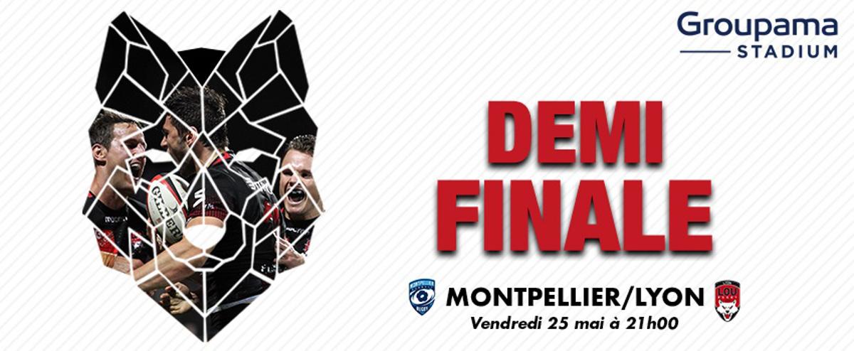 Le LOU affronte le Montpellier Hérault Rugby le vendredi 25 avril au Groupama Stadium.