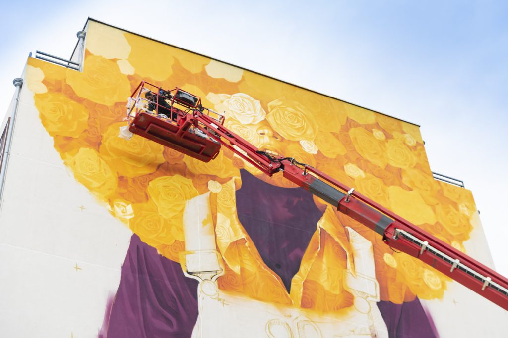 street art, festival peinture fraiche