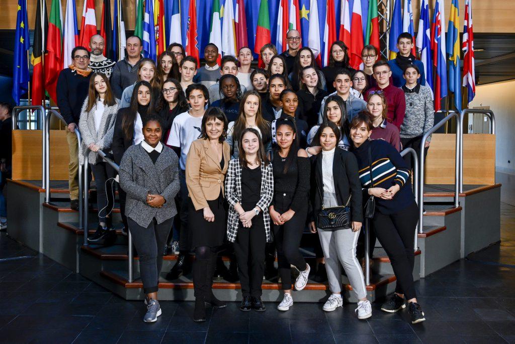 Les membres du COMET jeunes en visite au Parlement européen