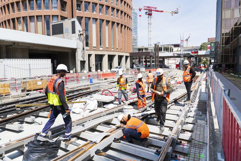 travaux du tram 1