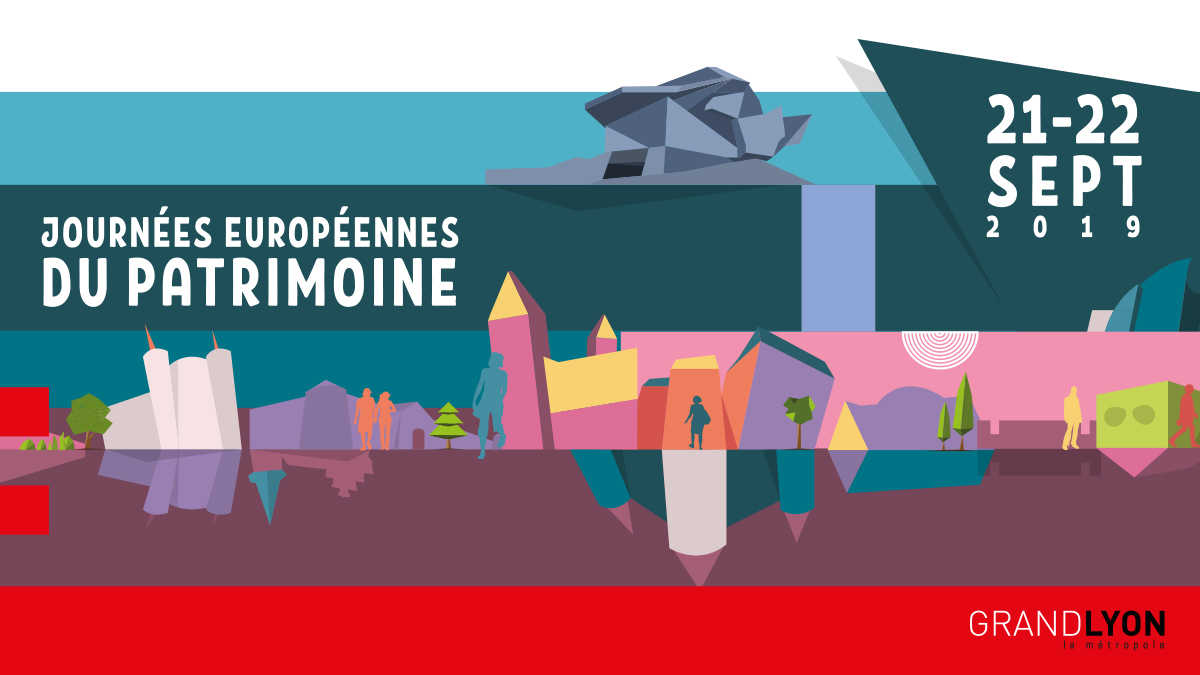 l'affiche des journées du patrimoine dans la métropole de Lyon