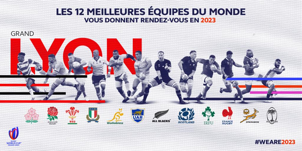 affiche les 12 meilleures équipes du monde vous donnent rendez-vous en 2023
