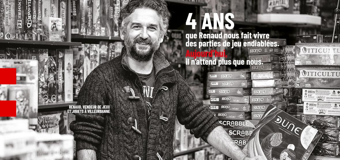 Renaud, vendeur de jeux et jouets à Villeurbanne