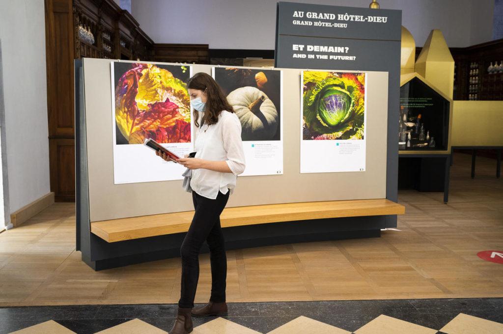 Photo d'une exposition à la Cité Internationale de la Gastronomie